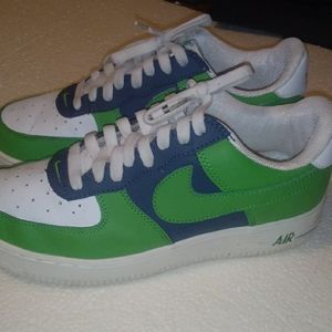 Nike Air force 1-Green/Blue-Size 7